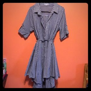 Charlotte Russe checkered high low dress